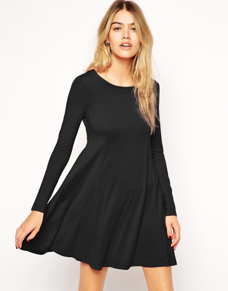 50e636874bd1 Robe manche longue noir robe bustier rose pale