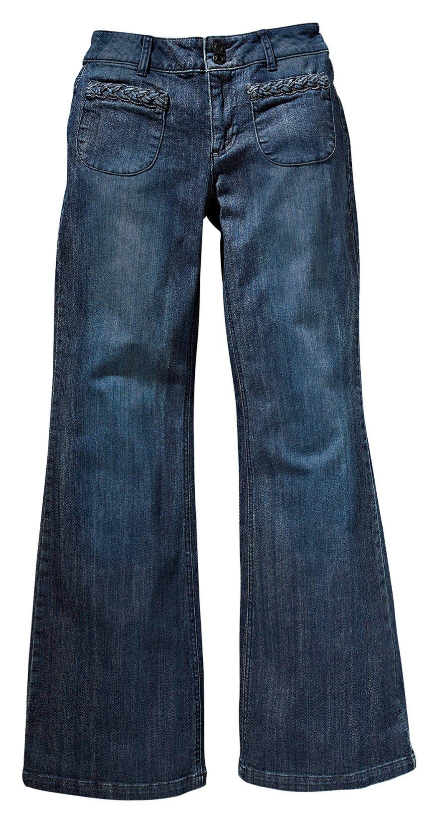 Une silhouette allongée avec un jean sur jean-femme.co