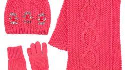 bonnet echarpe gants fille