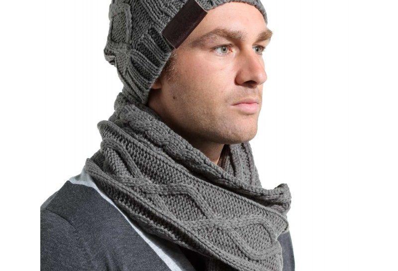 bonnet et echarpe homme