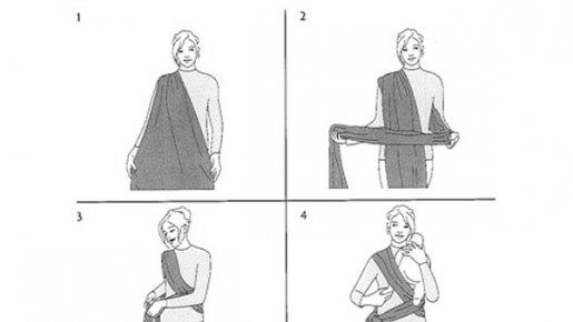 f774f61b08b8 Comment mettre une echarpe de portage - Diya.fr