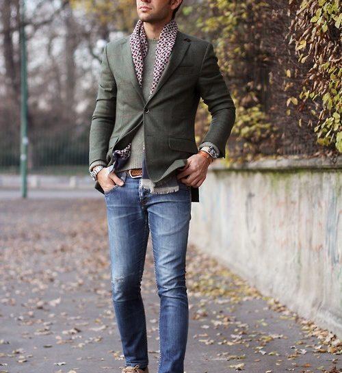comment porter echarpe homme
