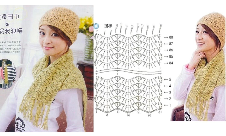 Echarpe Au Crochet Modele Gratuit Diya Fr