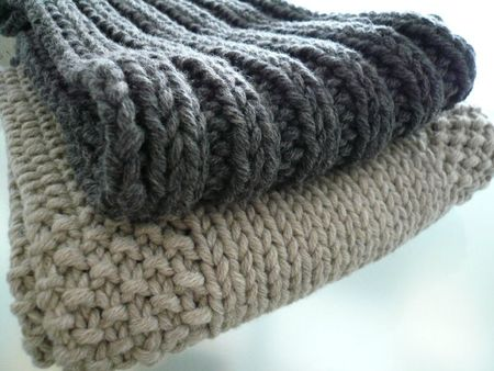 echarpe femme tricot