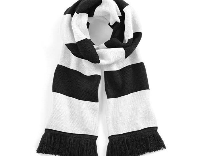 echarpe noir et blanche
