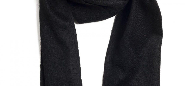 echarpe noire femme