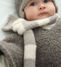 echarpe tricot bebe
