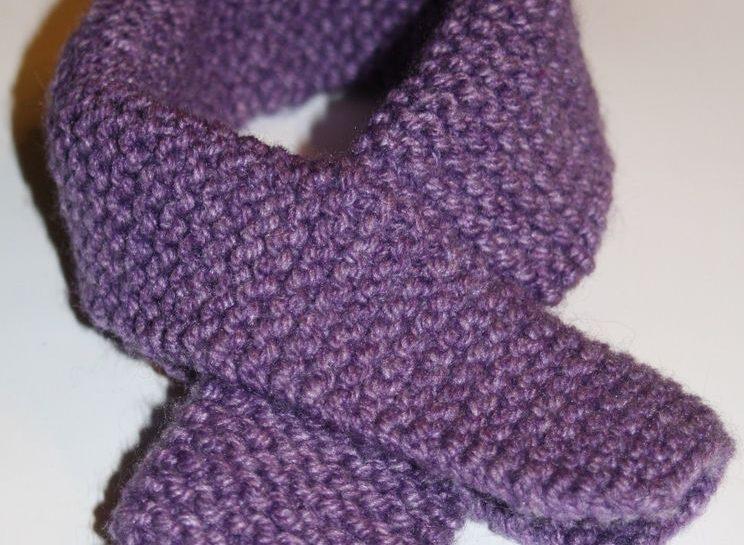 echarpe tricot enfant