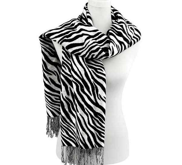 echarpe zebre