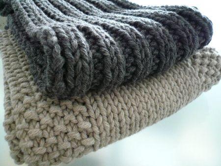 echarpes a tricoter