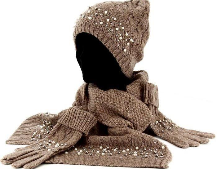 ensemble bonnet echarpe gants