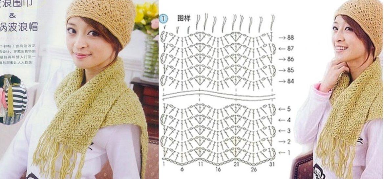 modele echarpe au crochet gratuit