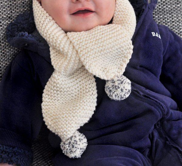 modele echarpe bebe tricot