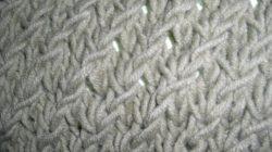 tricot point fantaisie pour echarpe
