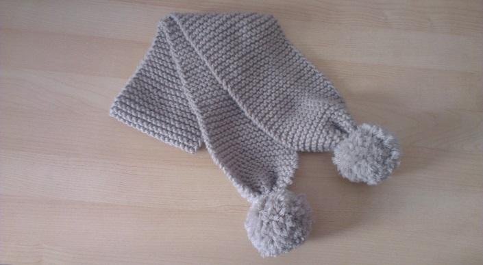 tricoter une echarpe enfant